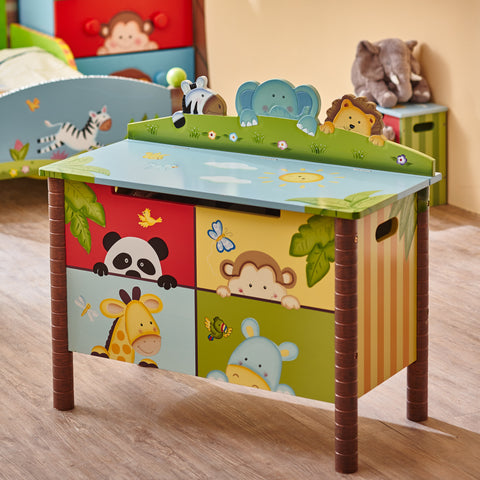 Sunny Safari - Toy Chest with Safety Hinges : Fantasy Fields® Official Website