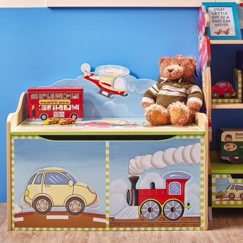 Transportation - Toy Chest with Safety Hinges : Fantasy Fields® Official Website