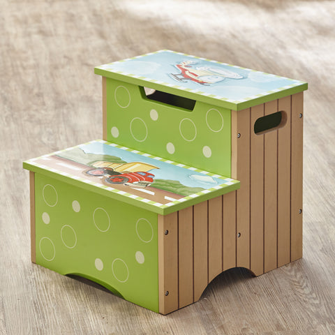 Transportation - Step Stool with Storage : Fantasy Fields® Official Website