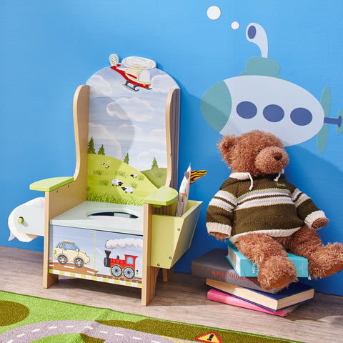 Transportation - Potty Chair with Book Holder and Toilet Paper Holder : Fantasy Fields® Official Website