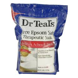 Dr Teal's Pure Epsom Salt Therapeutic Soak Soothes Sore Muscles & Tired Feet Fast Dissolving Ultra-fine crystals By Dr Teal's