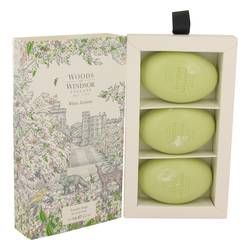 White Jasmine Three 2.1 oz Luxury Soaps By Woods of Windsor