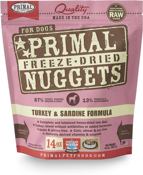 Primal Canine Turkey and Sardine Formula (Freeze Dried)