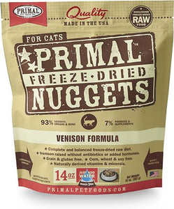 Primal Freeze-Dried Feline Vension Nuggets (4 bags) 5.5oz
