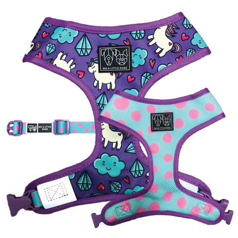 (15% OFF)REVERSIBLE DOG HARNESS: Cloudland