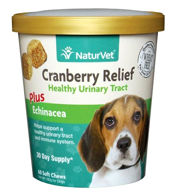 NaturVet Cranberry Relief Plus Echinacea (Urinary & Immunity) Soft Chew Dog Supplement
