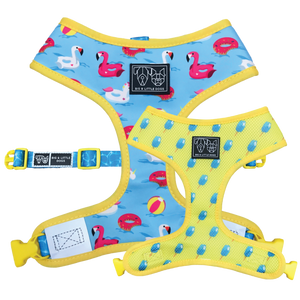 (15% OFF) REVERSIBLE DOG HARNESS: It's a Pool Party