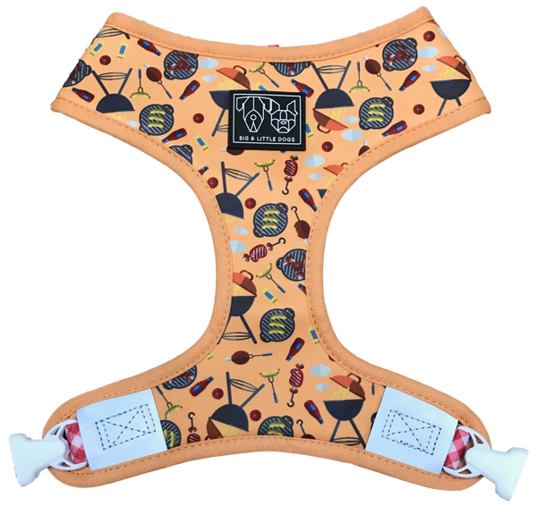 (15% OFF) REVERSIBLE DOG HARNESS: Licensed to Grill