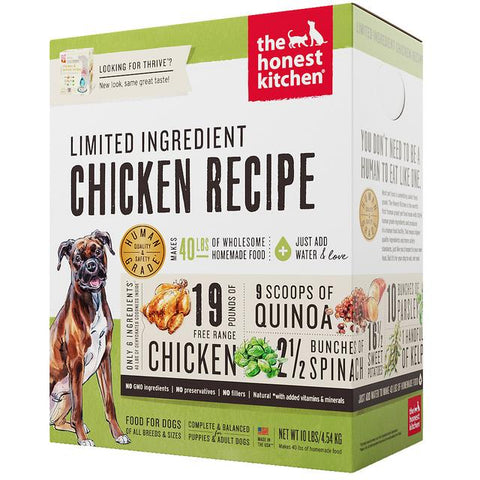 15% OFF : The Honest Kitchen® Thrive Chicken Limited Ingredient Grain-Free Dehydrated Dog Food (3 sizes)