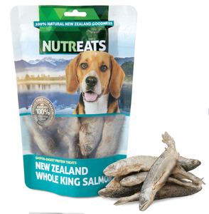 Nutreats Freeze Dried Whole King Salmon Treats for Dogs