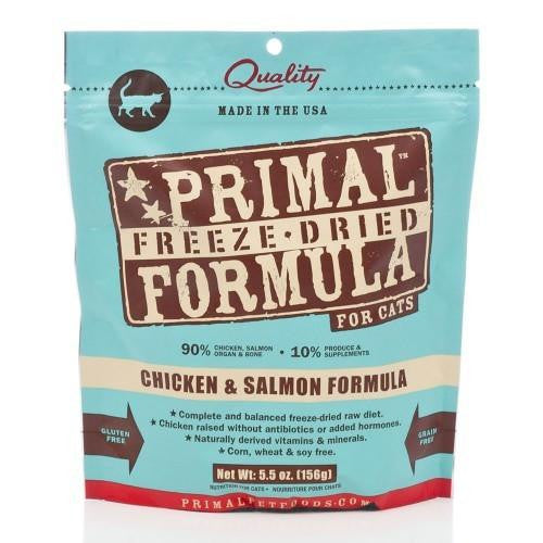 Primal: Freeze Dried Feline Chicken & Salmon Nuggets (4 bags)