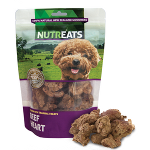 Nutreats Freeze Dried New Zealand Beef Hearts