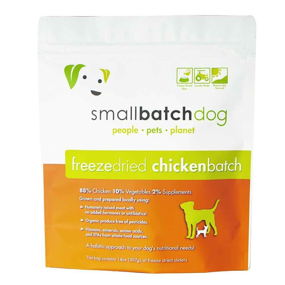 Smallbatch Chicken Batch Sliders Freeze Dried Dog Food 14oz