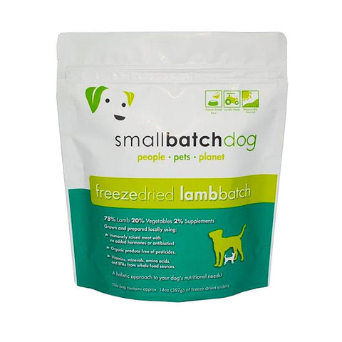 Smallbatch Lamb Batch Sliders Freeze Dried Dog Food 14oz