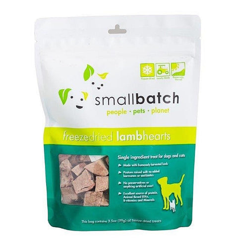 Smallbatch Lamb Hearts Freeze Dried Cat & Dog Treats 3.5oz