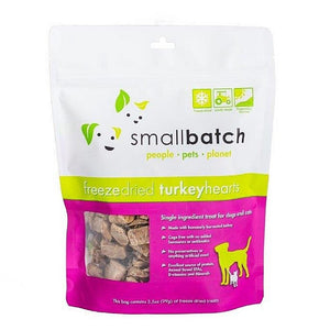 Smallbatch Turkey Hearts Freeze Dried Cat & Dog Treats 3.5oz