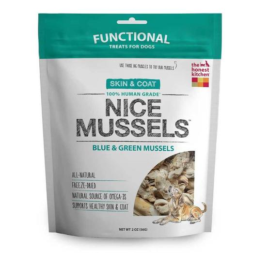 15% OFF:  The Honest Kitchen Nice Mussels Freeze Dried Dog Treats (56g)