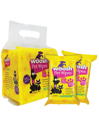 Pet Wipes (20 sheets x 3 packs)