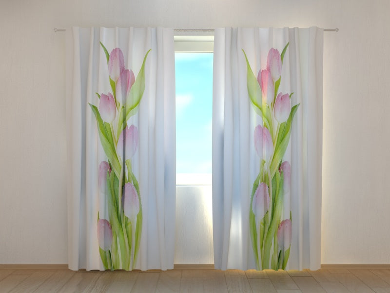 Photocurtain Amazing Pink Tulips - Wellmira