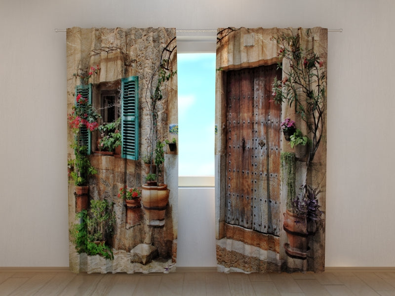 Photo Curtain Antique Door