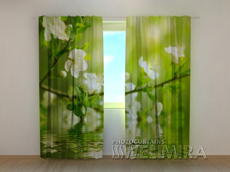 3D Curtain Apple-Tree by the Water - Wellmira