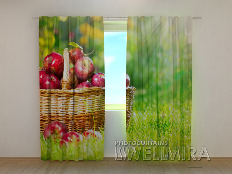 3D Curtain Apples - Wellmira