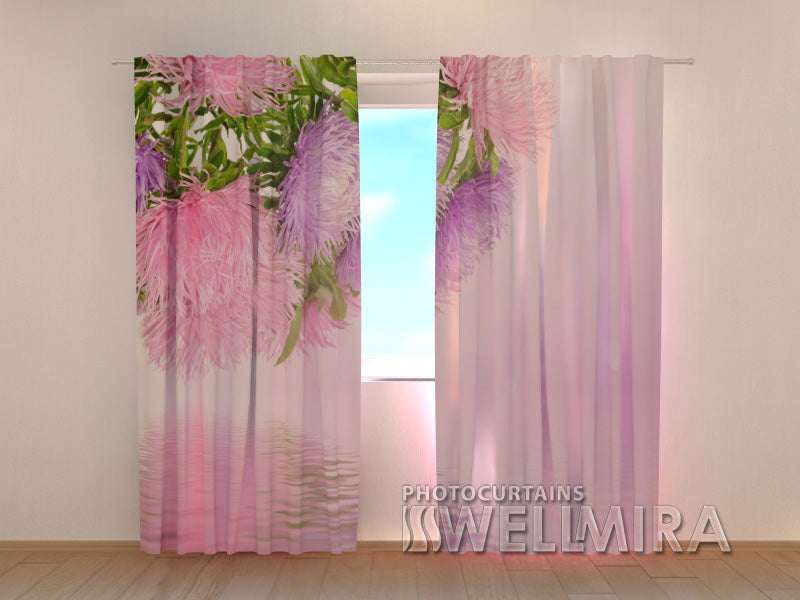 Photo Curtain Asters - Wellmira