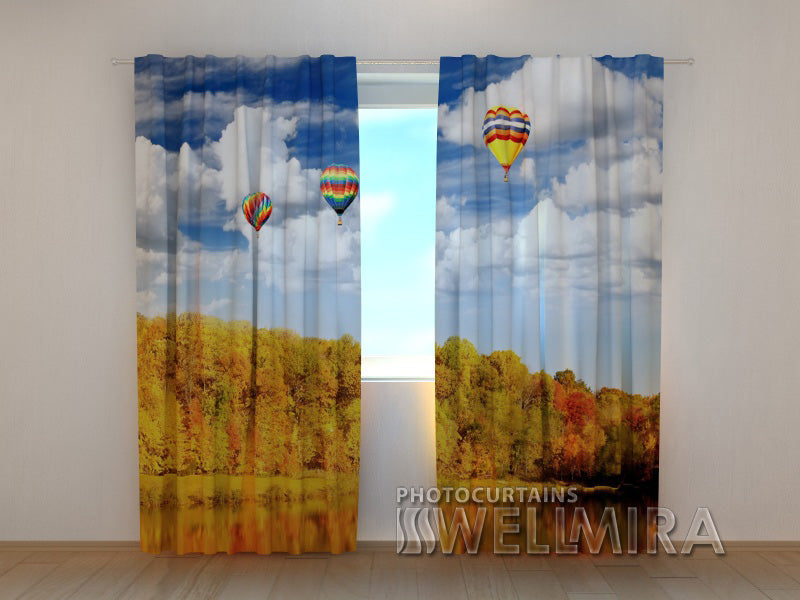 3D Curtain Autumn Happiness - Wellmira