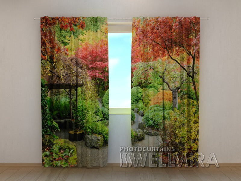 Photocurtain Autumnal Japanese garden - Wellmira