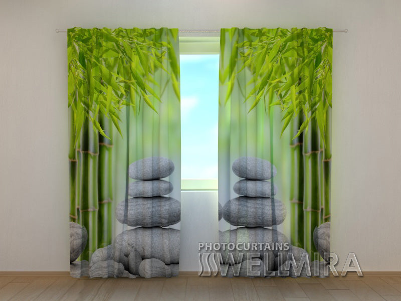 3D Curtain Bamboo and stones 2 - Wellmira