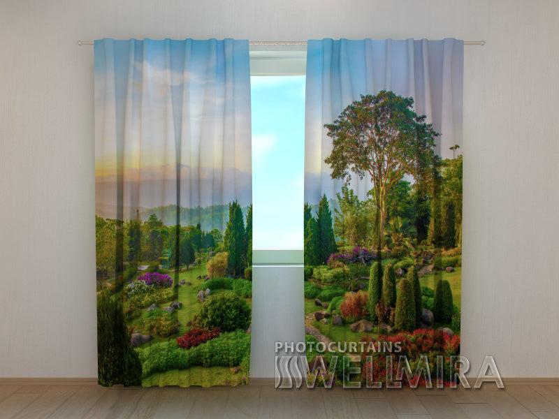 Photo Curtain Beautiful Garden - Wellmira