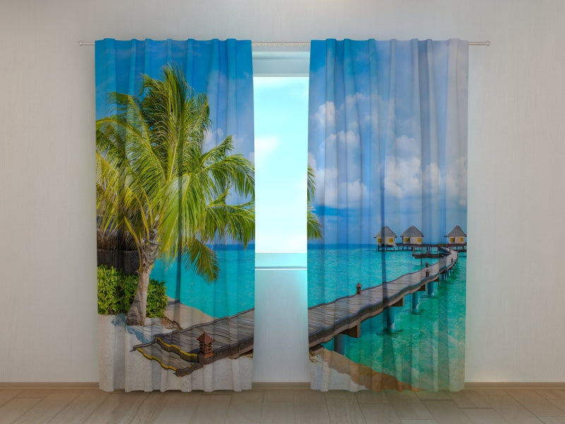 Photo Curtain Bungalows in the Maldives