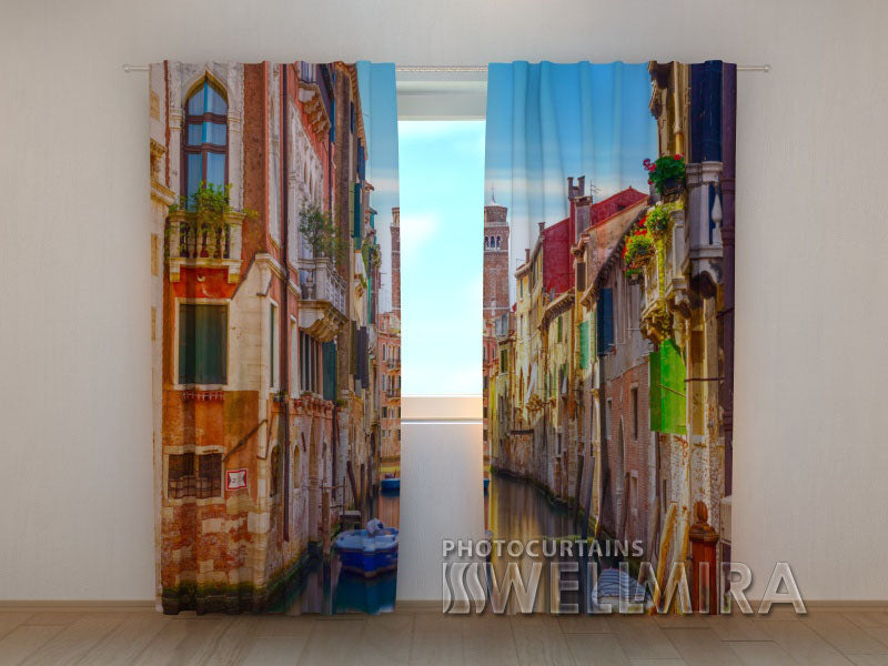 Photo Curtain Canal of Venice - Wellmira