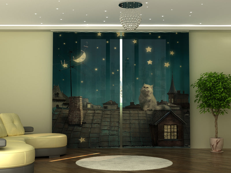Photo-curtain Cat W290xH250 cm - Wellmira