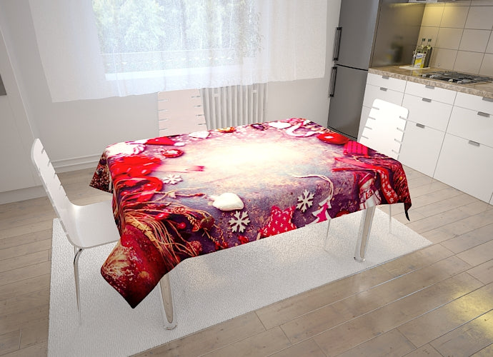 Christmas Tablecloth Red - Wellmira