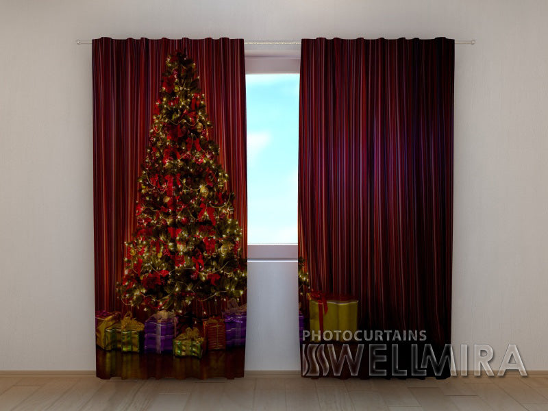 Photo Curtain Christmas Tree 1 - Wellmira