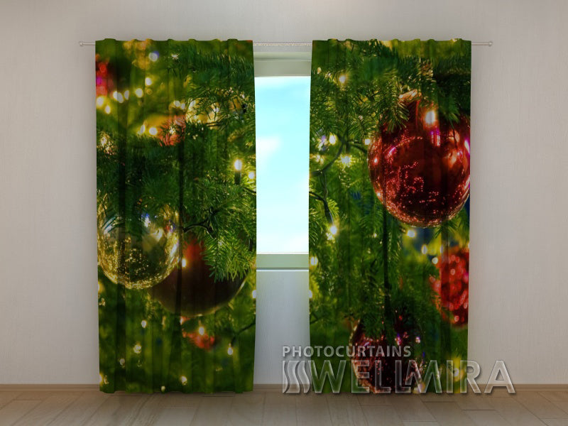Photo Curtain Christmas Tree 3 - Wellmira