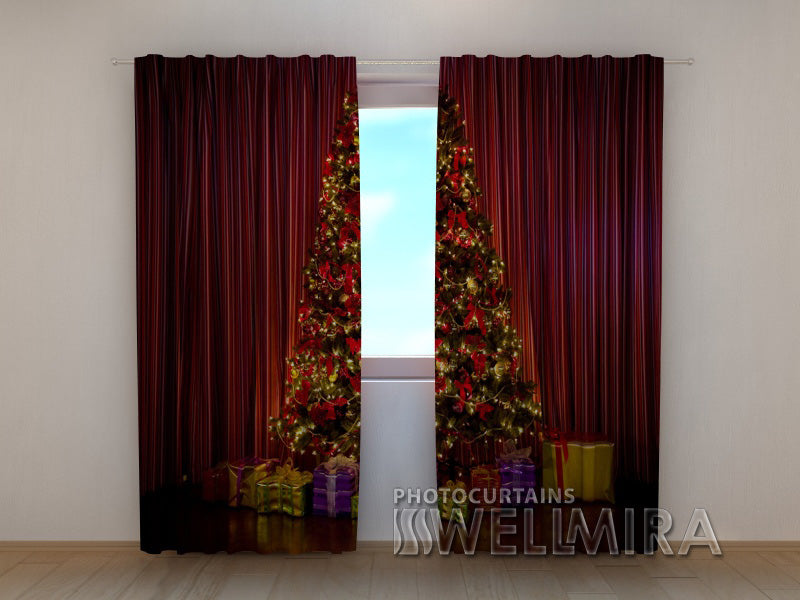 Photo Curtain Christmas Tree - Wellmira