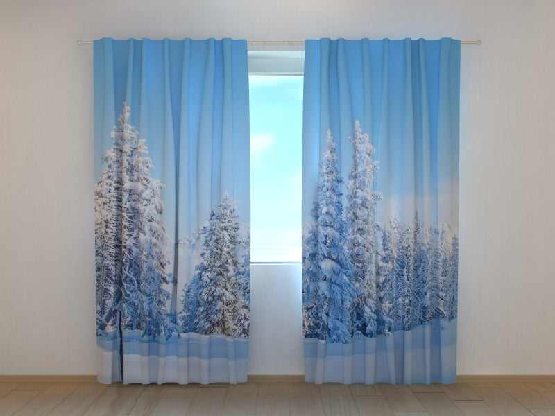Photo Curtain Christmas Forest