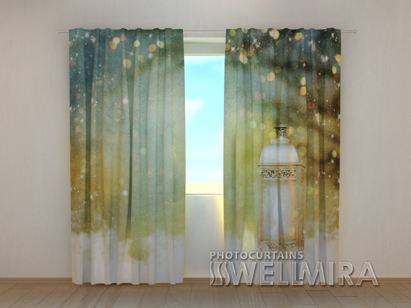 Photo Curtain  Christmas Lantern - Wellmira