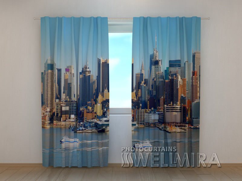 Photo Curtain City Harbour 2 - Wellmira
