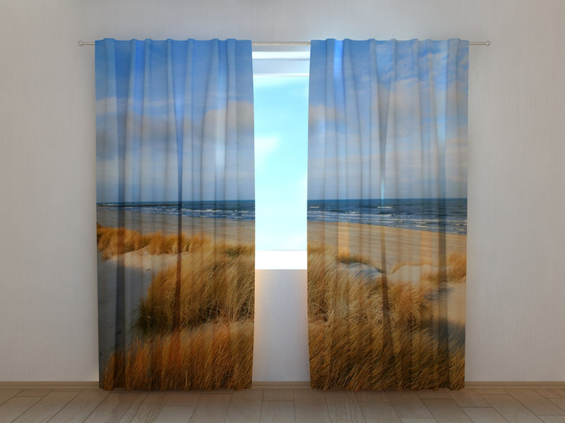 Photo Curtain Dunes on the Baltic Sea Shore - Wellmira