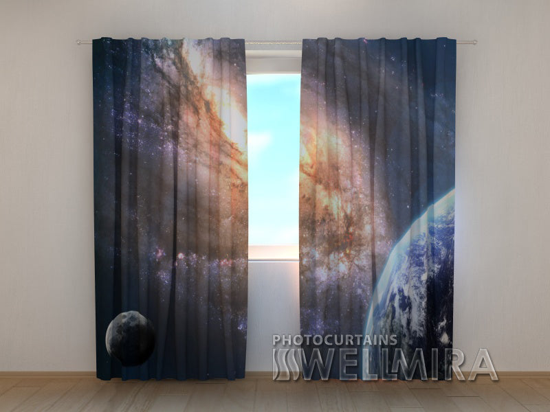 Photo Curtain Earth in Space - Wellmira