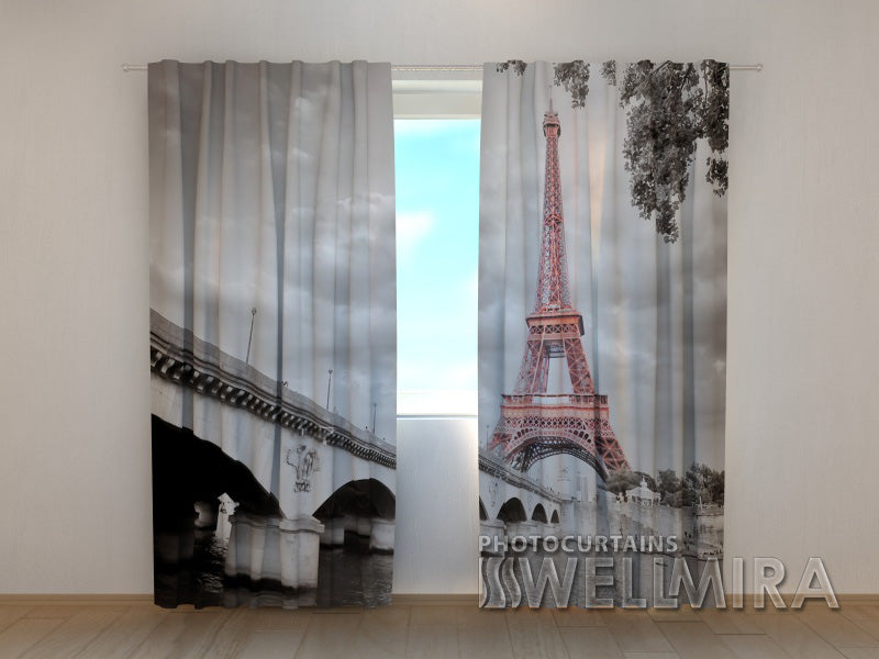 Photo Curtain Eiffel Tower 3 - Wellmira