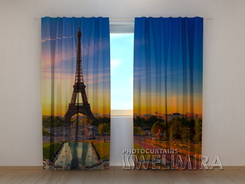 Photo Curtain Eiffel Tower - Wellmira