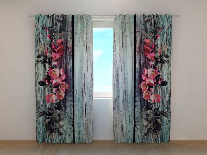 Window Curtain Printed with Beautiful Old Trees Wellmira Ready Made