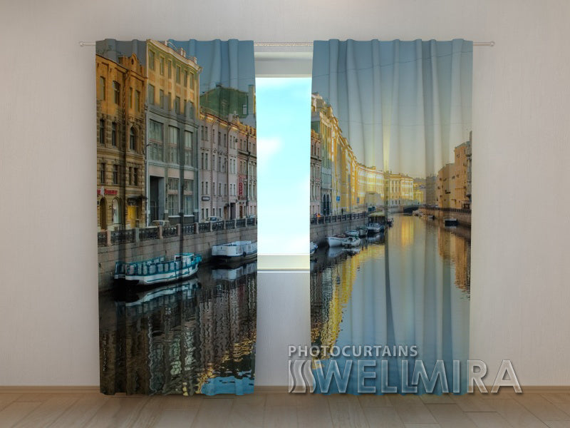 Photo Curtain Evening St. Petersburg - Wellmira