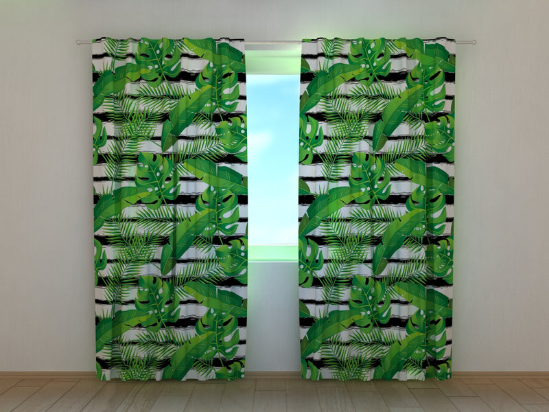 Photocurtain Exotic Tropical Plants - Wellmira