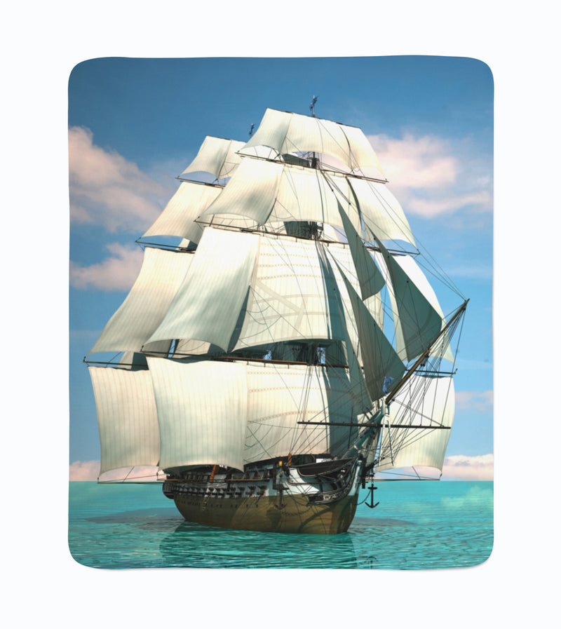 Fleece Blanket Beautiful Schooner