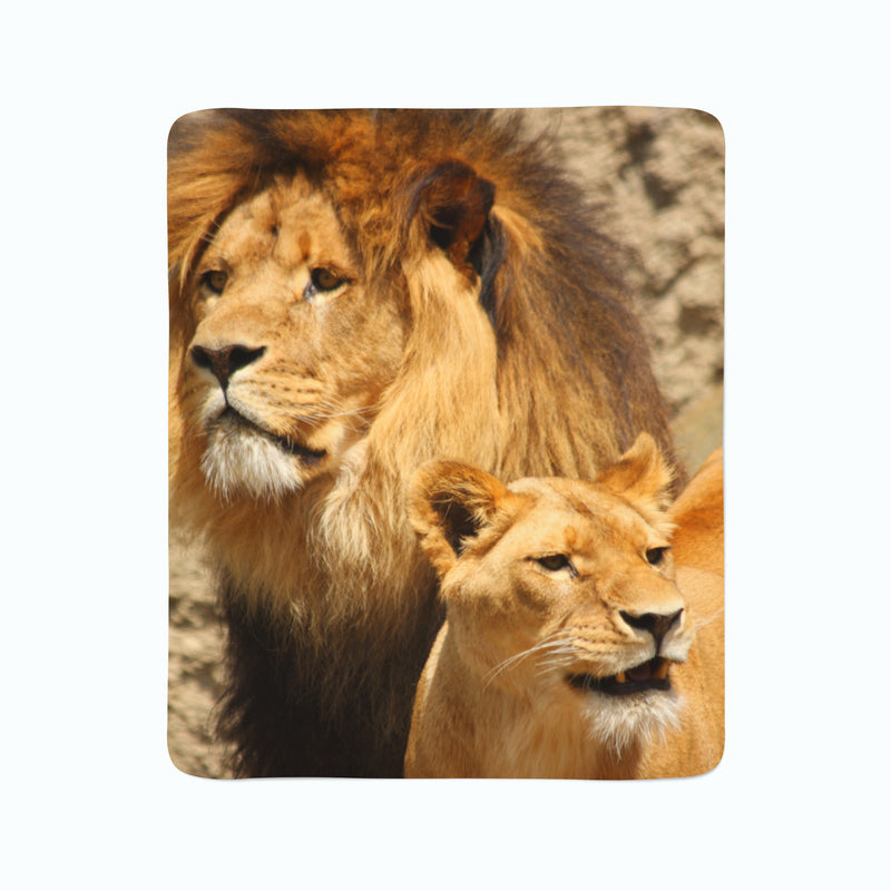 Fleece Blanket Lions